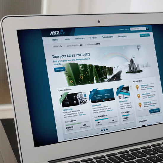 ANZ Ideas Hub Design
